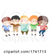 Poster, Art Print Of Kids All Boys Group Team Plan Illustration