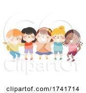 Poster, Art Print Of Kids All Girls Group Team Plan Illustration