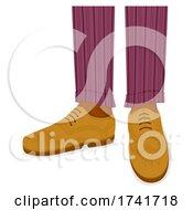 Guy Brogue Shoes Illustration