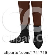 Guy Cuban Heels Shoes Illustration