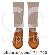 Guy Monk Strap Shoes Illustration