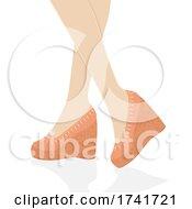 Girl Wedge Shoes Illustration
