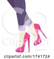 Girl Stilettos Shoes Illustration