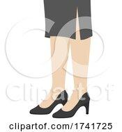 Girl Pumps Court Shoes Illustration