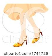 Girl Slingback Shoes Illustration