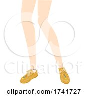 Girl Moccasin Shoes Illustration