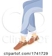 Girl Boat Shoes Illustration