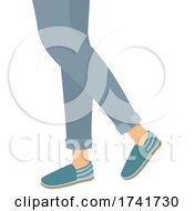 Girl Espadrille Shoes Illustration