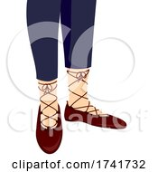 Girl Ghilie Shoes Illustration