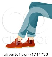 Girl Shoes Chelsea Boots Illustration