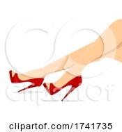 Girl Shoes Peep Toe Illustration