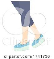 Girl Shoes Platform Illustration