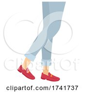 Girl Loafers Shoes Illustration