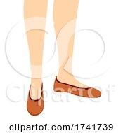 Poster, Art Print Of Girl Ballet Flat Shoes Illustration