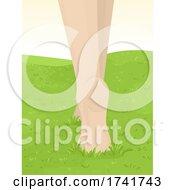 Feet Girl Barefoot Walk Tip Toe Illustration