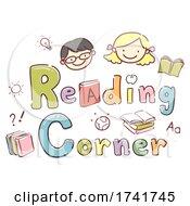Stickman Kids School Reading Corner Illustration by BNP Design Studio #COLLC1741745-0148