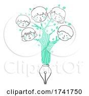 Doodle Kids Tree Fountain Pen Write Illustration