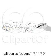 Doodle Kids Writing For Children Illustration