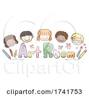 Stickman Kids Art Room Supplies Illustration