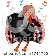 Turkey Sing Microphone Illustration