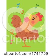 Poster, Art Print Of Chicken Animal Dance Illustration
