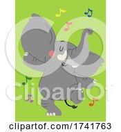 Poster, Art Print Of Elephant Animal Dance Illustration