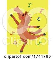 Horse Animal Dance Illustration