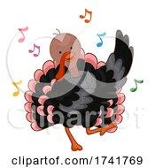 Turkey Dance Music Notes Illustration