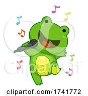 Frog Singing Microphone