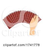 Hand Tarot Cards Deck Illustration