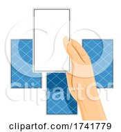 Hand Tarot Cards Read Fortune Illustration