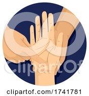 Hand Study Palmistry Illustration