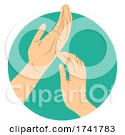 Hands Tapping Illustration