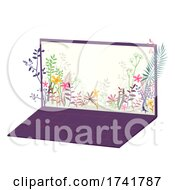 Laptop Plants Design Illustration