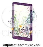 Mobile Phone Plants Design Illustration