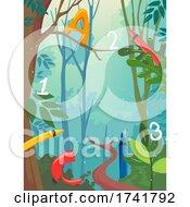 Preschool Forest Leaves Illustration