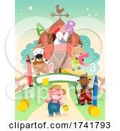 Preschool Animals Farm Theme Illustration