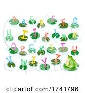 Frog Pond Lilies Alphabet Illustration
