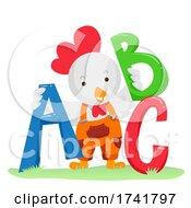 Farm Chicken Letters Illustration