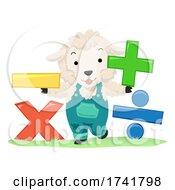 Farm Animals Sheep Math Operators Illustration