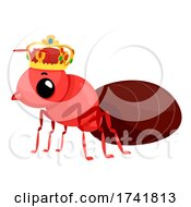 Mascot Ant Queen Crown Illustration
