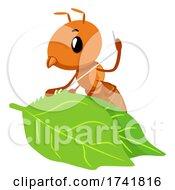 Mascot Ant Weaver Leaves Thread Illustration