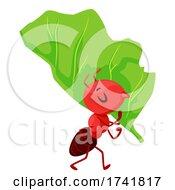 Mascot Ant Leaf Cutter Illustration