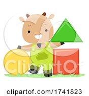 Farm Animal Goat Basic Shapes Illustration