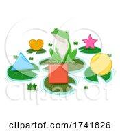 Frog Pond Shapes Lily Pads Illustration