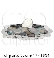 Egg Stone Nest Illustration