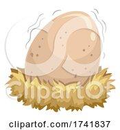 Egg Shake Nest Illustration