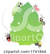 Bugs Leaf Board Illustration
