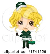 Kid Girl Paramedic Uniform Illustration