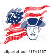 04/18/2021 - American Revolution Patriot Soldier Over A 76 Flag